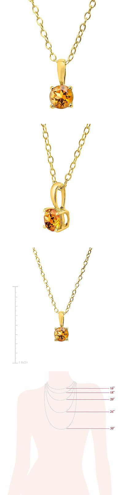 Gemstone 164332: 3 8 Ct Natural Citrine Pendant In 10K Gold, 16 -> BUY IT NOW ONLY: $49 on eBay!