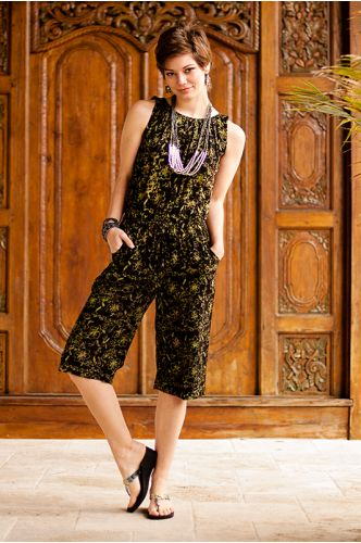 Charlotte Batik Jumpsuit | batik jumpsuit | black jumpsuit | shopgofish.com
