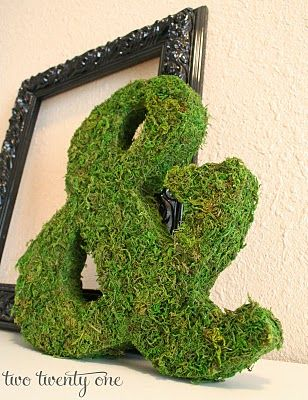 DIY MonogramSweetheart Table, Diy Monogram, Moss Lettersnumb, Mossy Letters, Letters Crafts, Covers Letters, Diy Moss Letters, How To Make Moss Letters, Cardboard Letters