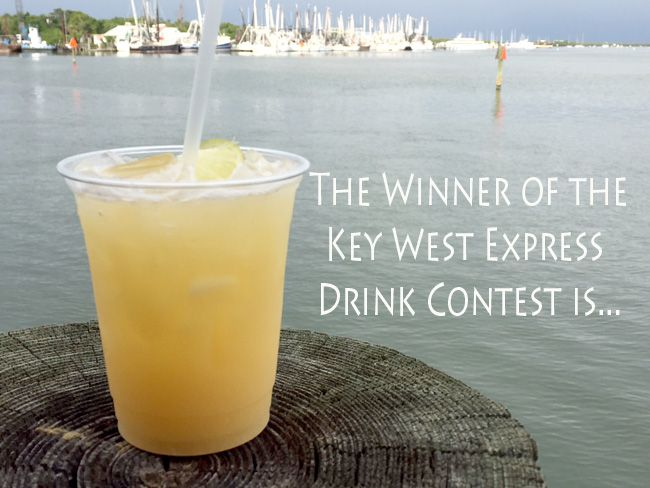 Key West Express drink - 5 Shots to the Wind – By Patricia Dean Paulson One shot good dark rum (Mount Gay) One shot fresh squeezed Florida orange juice One shot Pineapple juice One shot of coconut water One shot of Coconut rum Splash of Myers on top