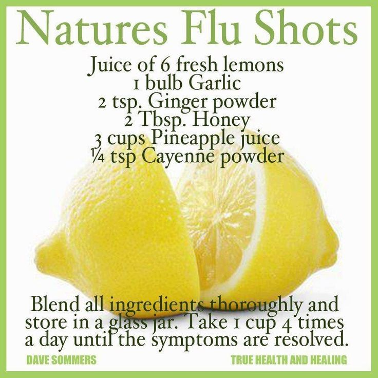 Natures Flu Shot - home remedy. #flu #remedy