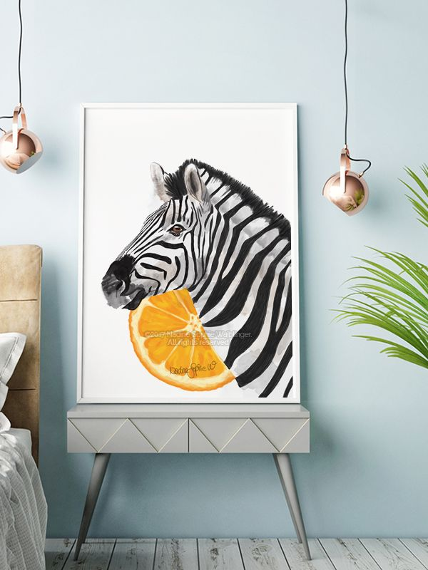 Zebra art print to decorate your empty walls. This Zebra painting is perfect to embellish your living room, bedroom and any other room you would like to decorate. All prints and posters are originally signed and numbered by the artist. Click on the image to get to my Etsy shop where you can explore many other decoration ideas and interiors. ☺ #zebra #zebrawallart