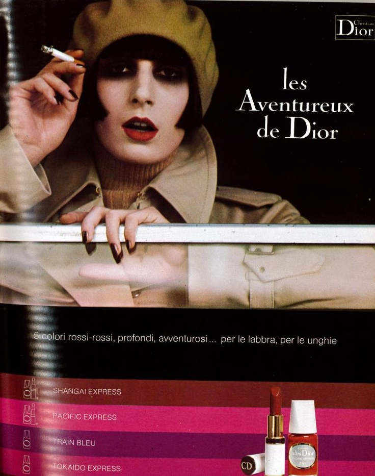 Dior ad, shot by Bob Richardson. Makeup by Serge Lutens    pretty sure this is anjelica houston in this pic