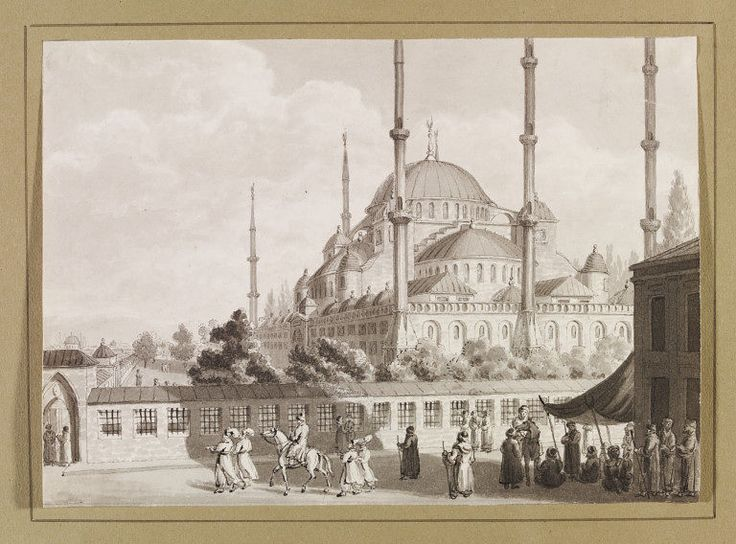 Mosque of Sultan Achmet [Ahmet] (Drawing) | V&A Search the Collections