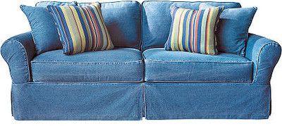 Cindy Crawford Home Beachside Denim Sofa :: Rooms To Go - Sofas