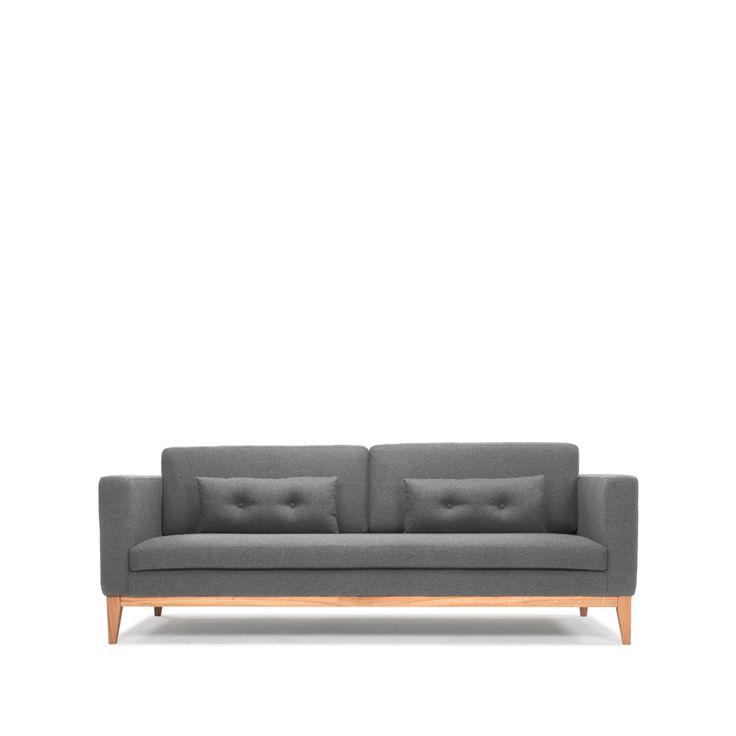 Day soffa - Day soffa - 3-sits tyg light grey