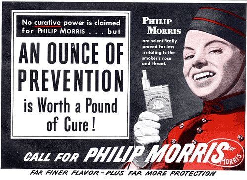 More cigarette science, this time from your friends at Phillip Morris.