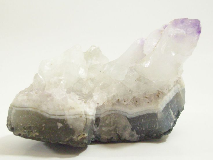 Amethyst TIPPED Quartz Rock Geode Natural Crystals DISPLAY PIECE