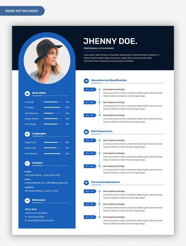 Modern Professional Creative Resume Template With Photo Desain Undangan Desain Undangan