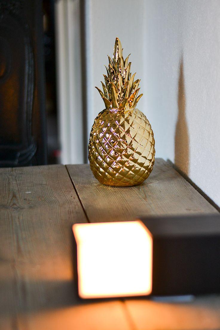 Brass&Gold Pols Potten pineapple in gold.