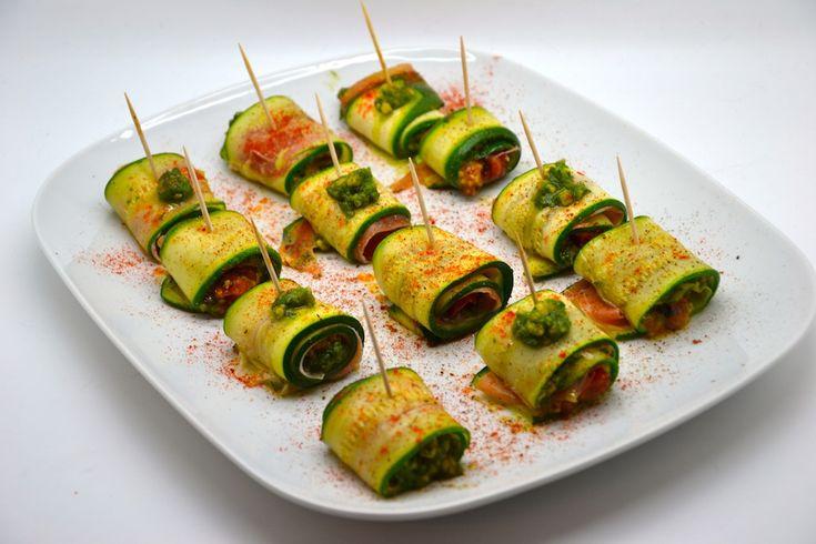 Zucchini rolls with rocket pesto | Loft Kitchen - Tried It, LOVED IT!