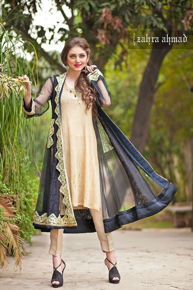 9619fd5c86c6 Pakistani Designer Dresses - Lowest Prices - Royal Gold Gown Dress by Zahra  Ahmad - Dresses - Latest Pakistani Fashion | dress | Pakistani dresses, ...