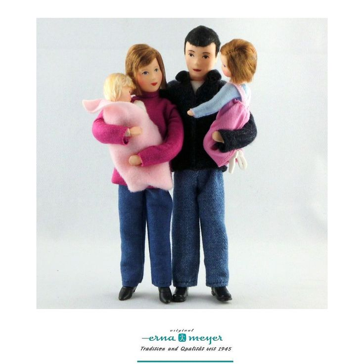 Family 2  - flexible doll in scale 1:12 compact Z