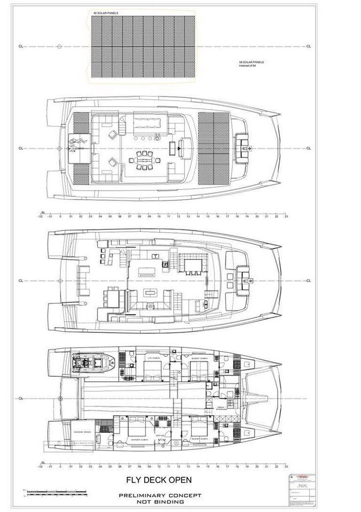 Silent 80 3 Deck Electric Hybrid Yacht Silent Yachts In 2020 Deck Yacht Floor Plans