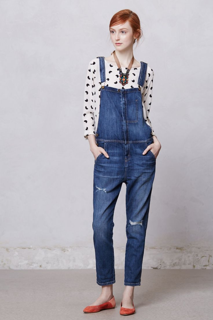 Am I too old for overalls, cause I love them, and Anthro seems to think they are back? Do I care if I'm too old? haha #RanchHandOveralls #Anthropologie