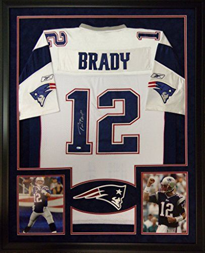 tom brady framed jersey signed mounted memories coa autographed patriots new england mister mancave http