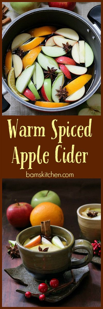 Warm Spiced Apple Cider / GLUTEN-FREE/ VEGAN/ WARMING and makes your ...