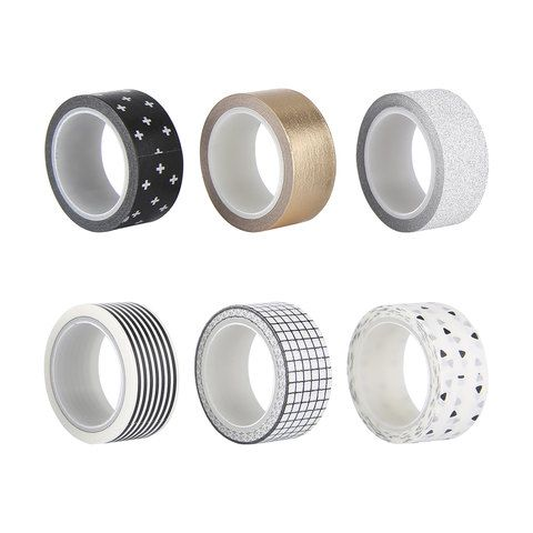 Decorative Tape Metallic 6 Pack | Kmart