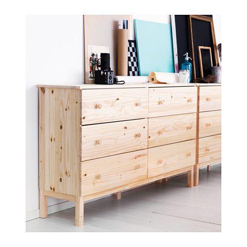 PAX Wardrobe, white, Hemnes white stain Stains, Closet dresser and Pine