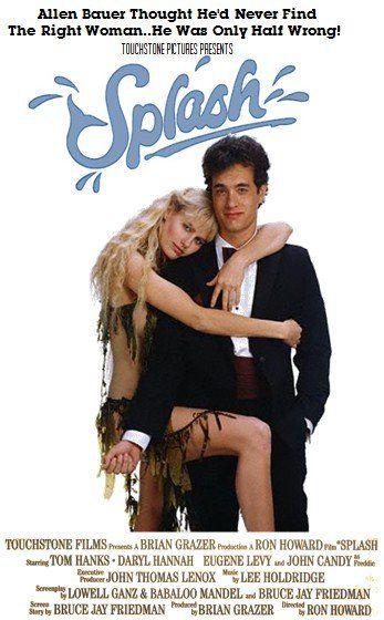 """""""Splash"""". Darryl Hannah and Tom Hanks."""