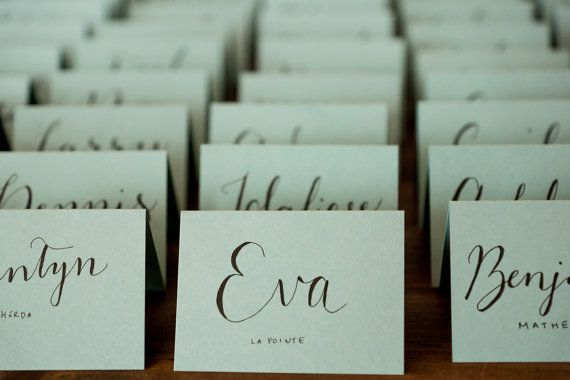 10 custom handwritten place cards escort cards by pickthenprint