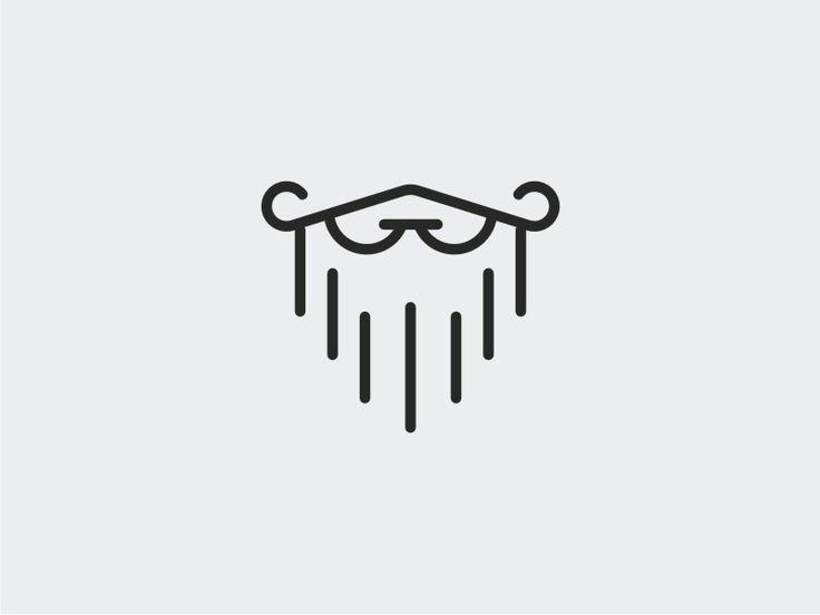 beard logo in simple illustration