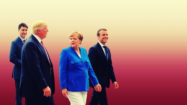 """Der Spiegel Just Published the Minutes From Trump's Contentious Meeting With G7 Leaders """"Now China leads.""""  http://www.motherjones.com/environment/2017/06/trump-g7-der-spiegel-minutes-merkel-macron"""