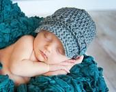 Baby boy Newsboy hat Made to Order. $12.00, via Etsy.