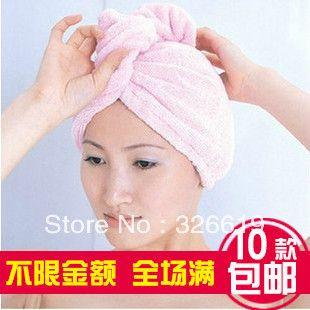 Бесплатная Доставка Ткань Из Микрофибры Быстро сухое полотенце cap шампунь для волос шапочка для душа высокое качество волокна сухие волосы шляпа супер Волос полотенце