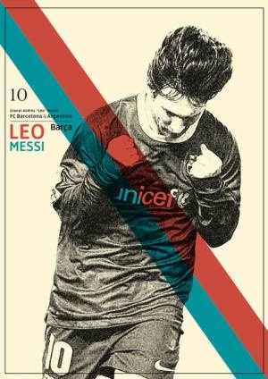 Football/design: Beautiful retro poster of  Leo (via @h3ukels)
