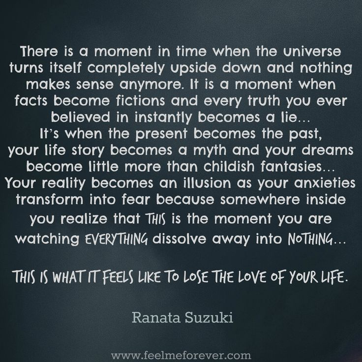 """This is what it feels like to lose the love of your life."" - Ranata Suzuki * missing you, I miss him, lost, love, relationship, beautiful, words, quotes, story, quote, sad, breakup, broken heart, heartbroken, loss, loneliness, unrequited, grief, depression, depressed, lies, anxiety, lost, alone, typography, written, writing, writer, poet, poetry, prose, poem, despair, soulmate, broken * pinterest.com/ranatasuzuki"