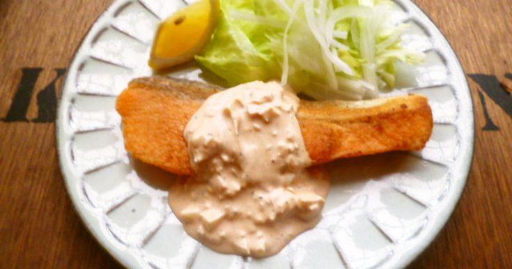 鮭のムニエル☆春色タルタルソース♪ by ちーすけ♡ [クックパッド] 簡単おいしいみんなのレシピが263万品