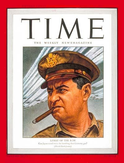 TIME Magazine Cover: Maj. Gen. Curtis LeMay - Aug. 13, 1945 - Curtis LeMay - World War II - Military - Air Force