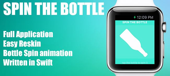 """Simple and famous party game called """"#spinthebottle"""" for apple watch. Use this game to have fun in the parties or when you just want to kill some time with friends"""