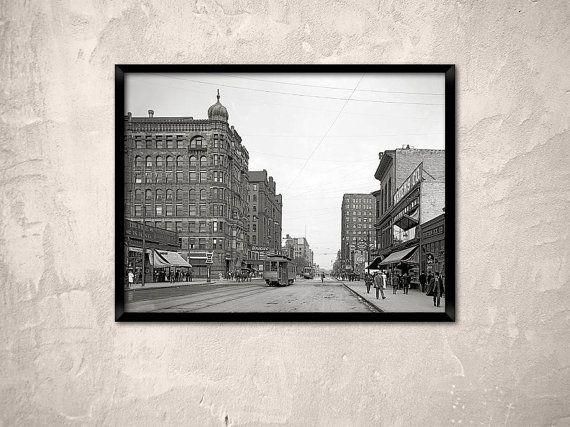 Minneapolis year 1908.Hennepin Avenue Minneapolis by Chromatone