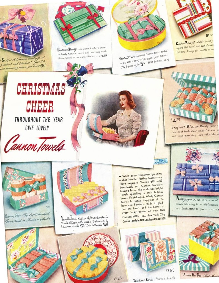 Vintage Cannon Towels ad. The packaging!