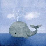 love the idea of whales for a little boys nursery