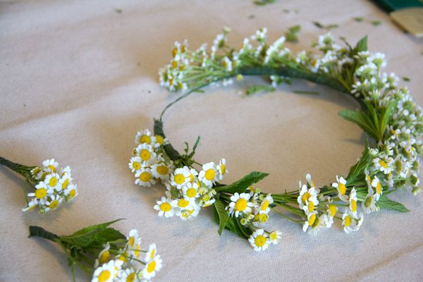 """This crown inspires me because I love the saying """"I'd rather wear flowers in my hair than diamonds around my neck."""" It's really true, and looks very elegant and simple."""