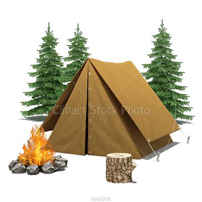 camping clip art illustration royalty free tent amp fire
