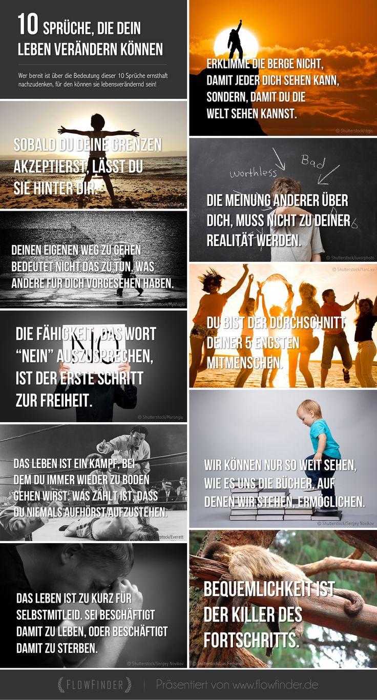 10 motivierende und inspirierende Sprüche