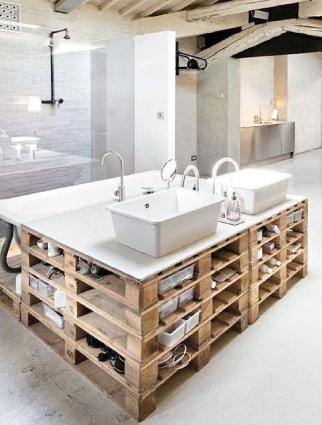 62 best style industriel salle de bain images on pinterest bathroom industrial style and. Black Bedroom Furniture Sets. Home Design Ideas