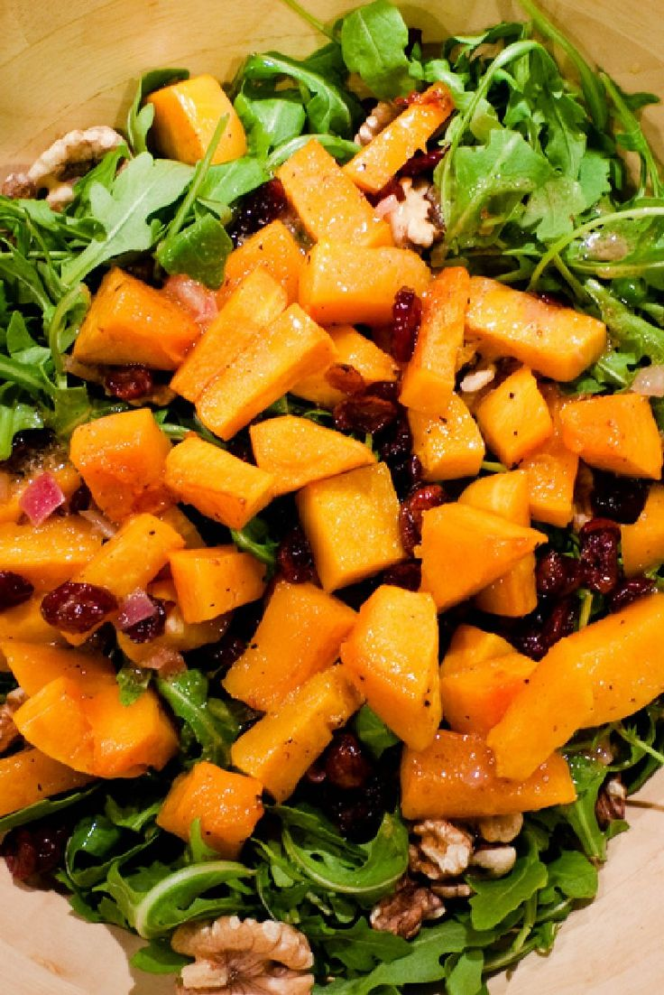 Butternut Salad With Cider Dressing Recipe — Dishmaps