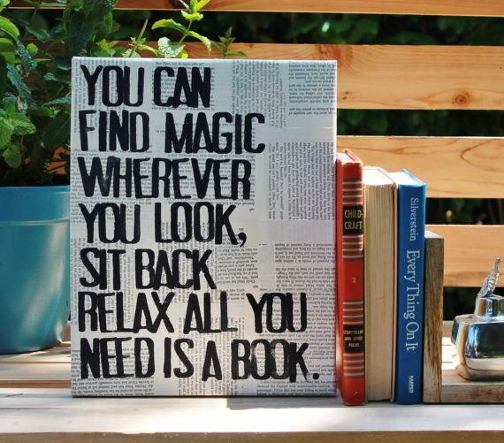"""Perfect book for a book worm!  11x14 is a great size for a shelf, book case or on a wall.   """"You can find magic...read a book...""""  Dr. Seuss  by Houseof3"""
