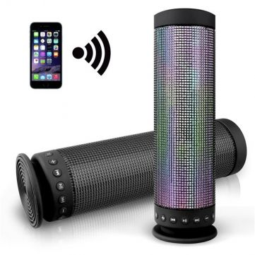 Colorful LED Lamp Portable TF Card Wireless Bluetooth 4.0 Speaker Sale-Banggood.com
