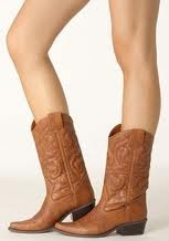 Brown Leather Cowgirl Boots