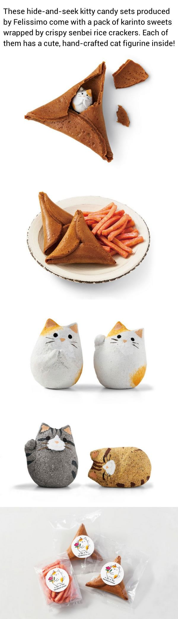 Japan Creates A Purrfect Alternative To Fortune Cookies – Fortune Cat Rice Crackers - 9GAG