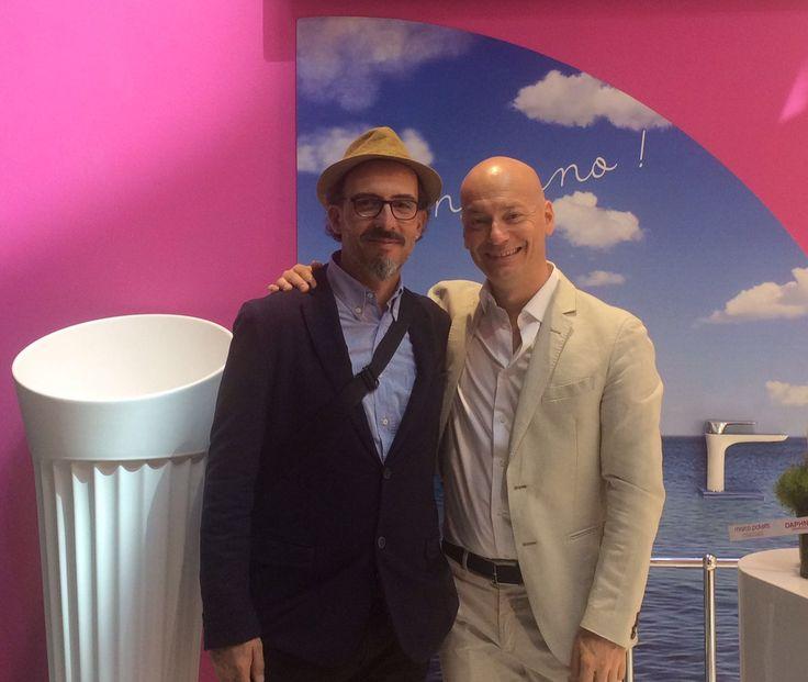 arch. Lorenzo Palmieri con Marco Poletti alla #marcopoletticluster Salone del Mobile.Milano