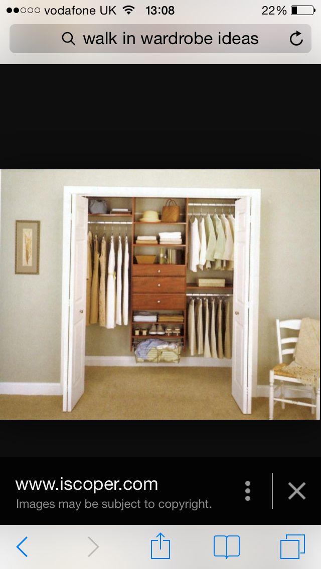 Bifold cupboard doors on walk in wardrobe?