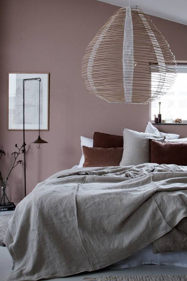 Bedroom Guest Blush Pink Grey Brown Colour Palette Minimalist Bedroom Design Minimalist Bedroom Home Decor