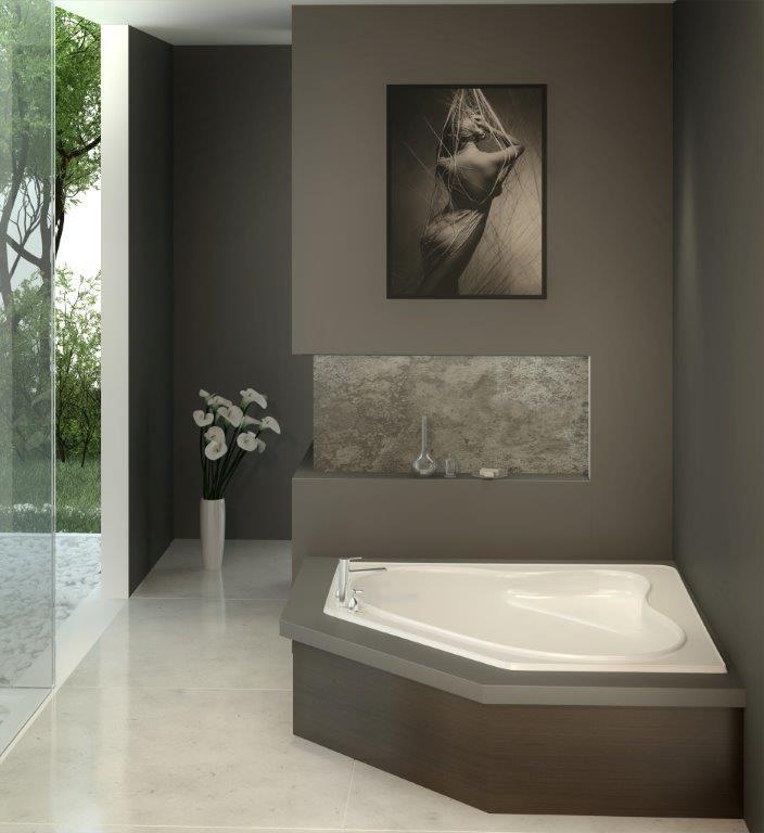 "The Acquisition Model 6063C - 60"" Acrylic Corner Bathtub"